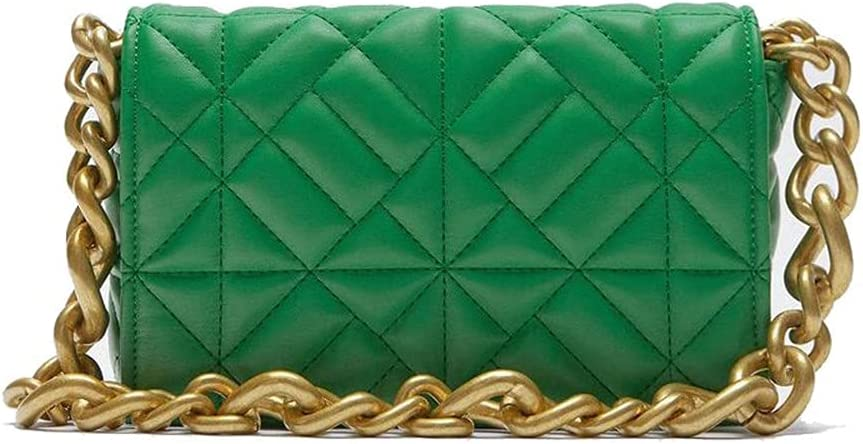Women's Clutch Bag Wedding Clutch Bag Chain Shoulder Strap Cross Body Bag for Weddings Dance Parties and Important Occasions(Green)