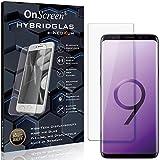 OnScreen Schutzfolie Panzerglas kompatibel mit Samsung Galaxy S9+ Panzer-Glas-Folie = biegsames HYBRIDGLAS, Bildschirmschutzfolie, splitterfrei, MATT, Anti-Reflex - entspiegelnd
