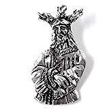 Colgante plata Ley 925m macizo 29mm. imágen Jesús Nazareno Cautivo de Málaga detalles tallados
