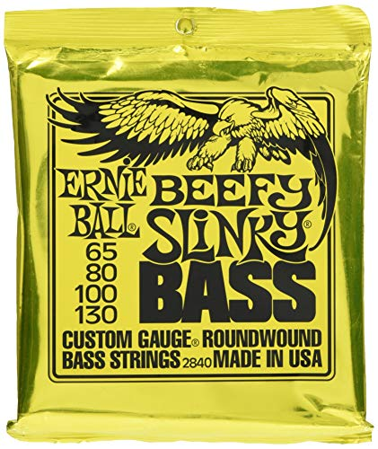 Beefy Slinky Nickel Wound Electric Bass Guitar Strings - 65-130 Gauge