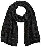 Calvin Klein Scarf 35x220 Juego de accesorios de invierno, Negro, One Size para Mujer