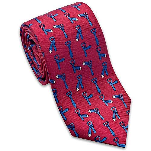 Mathillda heren Hoe men een stropdas bindt instructies zijden das rood Perfect geschenken voor mode-stropdas