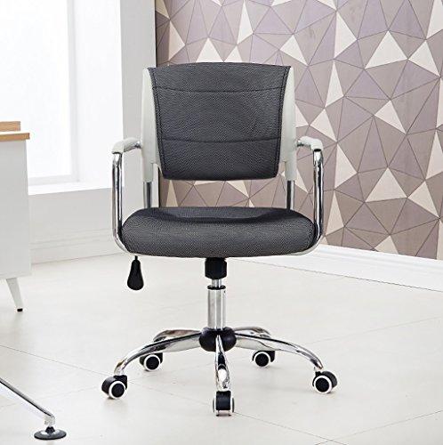 Canyi Z Computer Stuhl Büro Schwarz Pulley Bürostuhl Multifunktionale Bund Mesh Stuhl Swivel Lift Konferenzstuhl (Farbe : Gray)