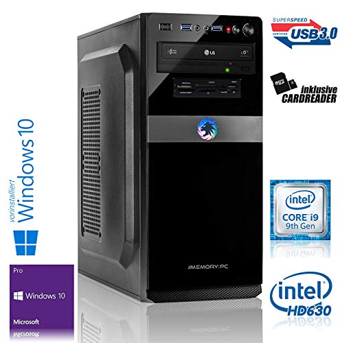 Memory PC Intel i9-9900K 8X 3.6 GHz, ASUS, 32 GB DDR4, 480 GB SSD + 2000 HDD, Intel UHD Graphics 630, Windows 10 Pro 64bit