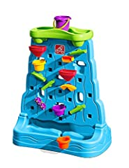 Two-sided water play comes to life in this fun outdoor activity center by Step2. Explore early STEM concepts and cause and effect play with the Waterfall Discovery Wall! Pour water into the top tray to create a waterfall and activate the put-and-plac...