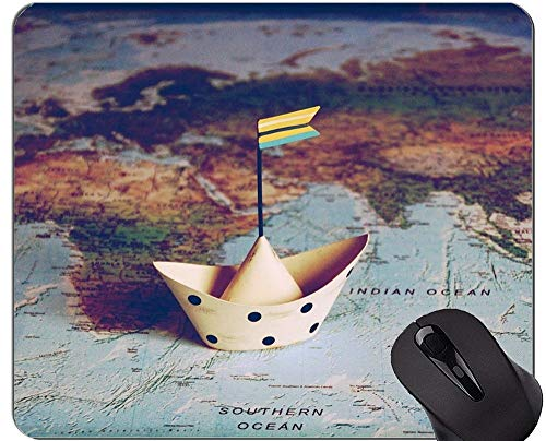 Mouse Pad with Locking Edge,Travel Themes Personalized Rectangle Gaming Mouse Pads