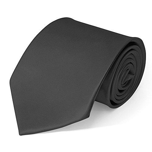 SoulCats Klassische Krawatte inkl. Anleitung breit viele Farben Satin Schlips Herren, Farbe:dunkelgrau