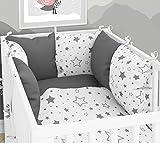 Tour de lit: Lot de 6coussins avec housses pour lit de bébé - 60x120cm
