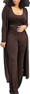 Women's Sexy Lace Transparent See Through Wide Leg Pants Tube Top Long Coat Sets Suits