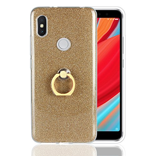 Funda® Anillos Soporte Carcasa Case Cover Caso para Xiaomi Redmi S2/Xiaomi Redmi Y2 (Oro)