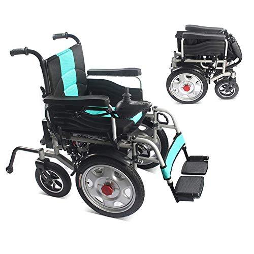 BOC Elektrische Rollstühle Motorisierte Falten faltbarer Power Wheel Chair, Leichtklapp Carry, leistungsfähige Dual-Motor