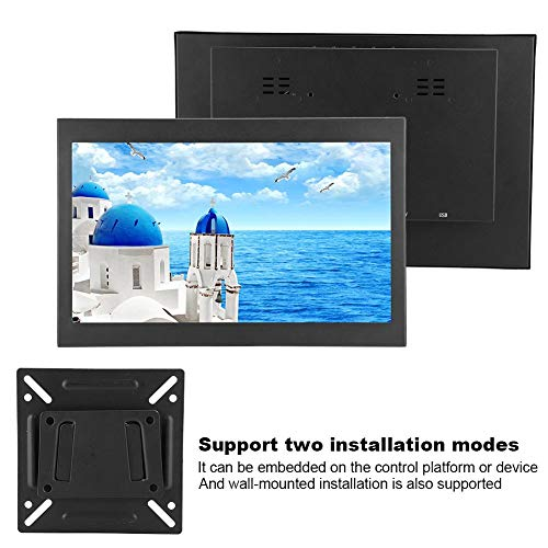 Diyeeni draagbare HDMI-monitor, 13,3 inch 16:9 capacitieve multitouch monitor ultradun 1920x1080 HD scherm met VGA AV USB-ingang, metalen behuizing, tweede monitor voor laptop pc, CCTV, VESA 75x75mm, EU.