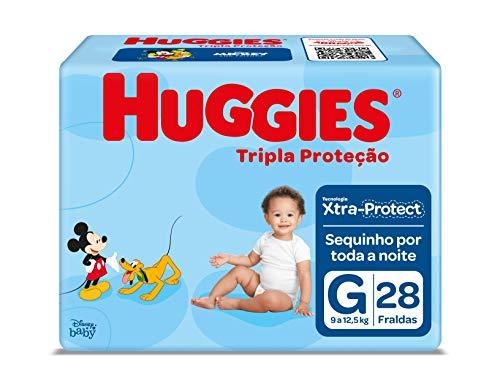 Fralda Huggies Tripla Proteção Jumbo G, 28 Fraldas