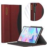 INFILAND Funda para Galaxy Tab S6 Lite Soporte Frontal Grueso Maletín Cascara con Auto Reposo/Activación Función para Samsung Galaxy Tab S6 Lite 10.4 P610/P615,Vino Tinto
