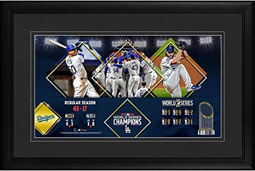 Los Angeles Dodgers 2020 MLB World Series Champions Framed 10