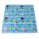 Tbest Baby Crawling Mat, 39' x 39' Blue Ocean World Pattern Waterproof Environment-Friendly Cartoon Baby Floor Mat Non-Slip Baby Play Mat