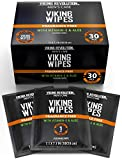 Flushable Wet Wipes for Adults Unscented- 30 Individually Wrapped Travel Wipes- Disposable Toilet Wipes with Vitamin E and Aloe