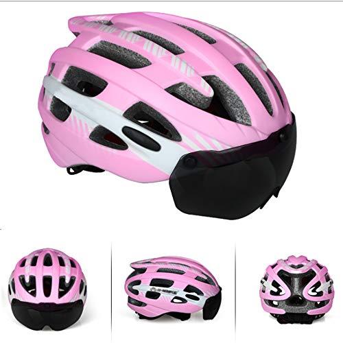Volwassen Fietsen Fietshelm, Fietshelm Ultra-Light Mountain Bike Helmet MTB fietshelm Fiets accessoires voor mannen en vrouwen,Pink,M