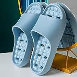 ypyrhh Sandalias de Punta Descubierta,Zapatillas de baño de cámara,Sandalias de Masaje Blando-Azul Claro_36-37,Zapatillas de Moda de Verano