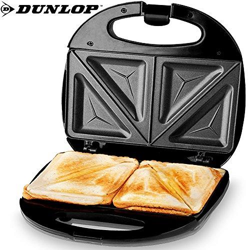Dunlop 871125206011 Sandwich-Zubereiter, Rostfreier Stahl, Schwarz