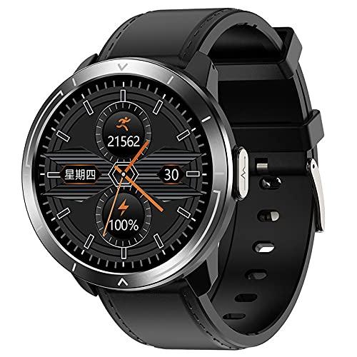 LSQ Hombres Reloj Inteligente 24H Temperatura Corporal De 24 Horas 1.3'Pantalla OLEDWATCH Smartwatch Presión Arterial Oxígeno Monitoreo De Frecuencia Cardíaca Pulsera,A