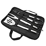 okby utensili per barbecue - set di utensili per barbecue in acciaio inossidabile set di utensili per barbecue all'aperto con borsa per il trasporto