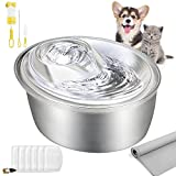 ORSDA Cat Water Fountain Stainless Steel,...