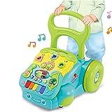 ZXLLAFT Andador Musical para bebés, Andador Multifuncional para niños, Andador de Empuje de 3 etapas, 6 Meses Todas Las etapas de Juego, Desde Sentarse hasta pararse y Caminar