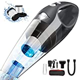Uplift Portable Handheld Vacuum Cordless Cleaner,7000Pa Cyclonic Suction Stainless Steel Filter,Lightweight Hand vac Li-ion Battery with Quick Charge Tech,Wet Dry for Home car,Carry Bag (Grey)