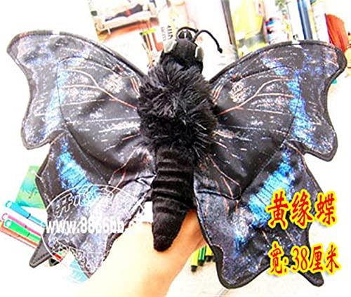 YSJJRGN Marionetas de Mano 38 cm Blue Swallowtail Butterfly Hand Puppet High Simulación Butterfly Insecto Puppet Muñeca Mano Aprendiendo Juguetes Bebé (Color : Red, Height : Width 38cm)
