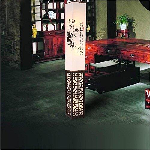 Moderne orientalischen Möbeln aus Holz Stehlampe für Wohnzimmer Schlafzimmer Tischlampe Hohl heraus geschnitzt Schatten, 1