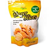 Paradise Green - Dried Ginger Slices 24 oz - Delicious Family Size Resealable Bag by Forever Green Food