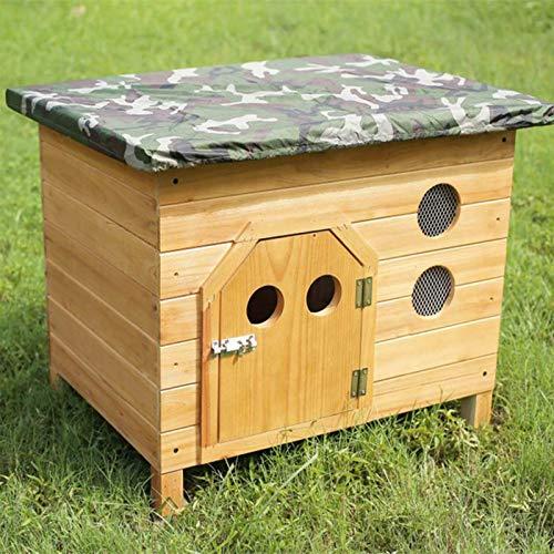 LQH Caseta aislada de madera para perros de fácil limpieza, caseta para perros, caseta de madera (tamaño: XL)