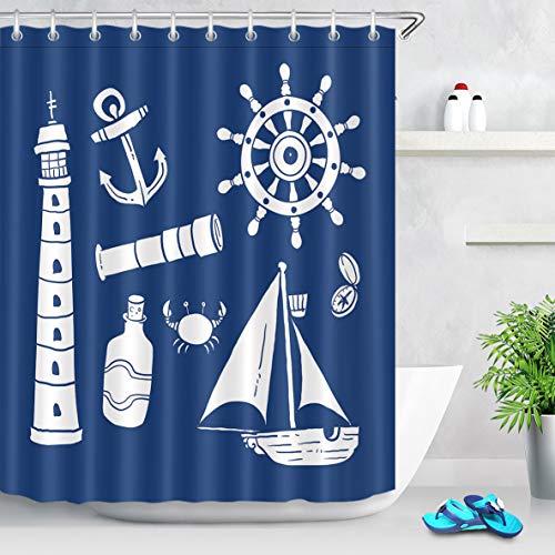cortinas baño tela azul