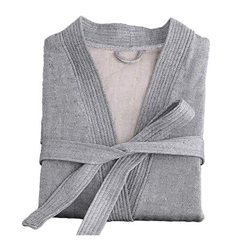 MGHN Bata de baño Otoño Invierno Gauze Robe 100% Túnica de algodón Bata de baño para Hombres y Mujeres Suave Gruesa de ventilación túnica Hembras Casual casero Albornoz (Color : 2, Size : X-Large)