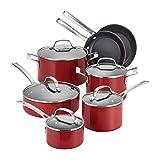 Circulon Genesis Stainless Steel Cookware Pots and Pans Set, 10 Piece