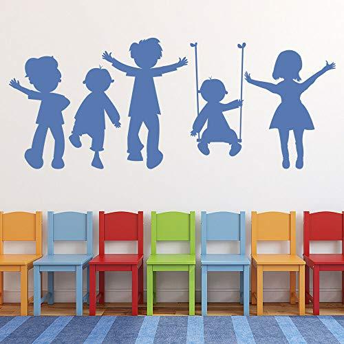 Juego para niños pegatinas de pared aula escolar patio de recreo arte mural decoración vidrio vinilo calcomanías dormitorio de los niños kindergarten calcomanías