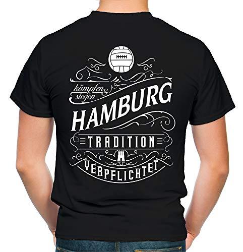 Mein Leben Hamburg T-Shirt | Freizeit | Hobby | Sport | Sprüche | Fussball | Stadt | Männer | Herren | Fan | M1 FB (XL)