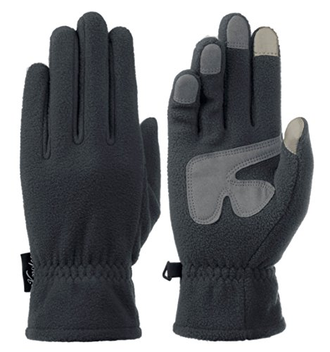 Knolee Men&Women Winter Glove Outdoor Warm Fleece Gloves With TouchScreen,Grey L