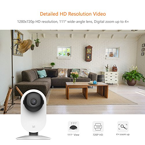 YI 2pcs Home Camera, 720p Wireless IP Security Surveillance System with Free Motion Alerts Cloud 6-Seconds Clips, Night Vision, Baby Monitor on iOS, Android App - Cloud Service Available