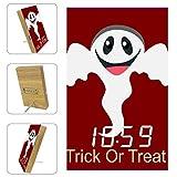 Vockgeng Les fantômes d'halloween sont charmants Réveil numérique LED avec Date de Port de Chargement USB et Fonction de Commande vocale, adapté aux Enfants et aux Adultes 16x9.8x2.2 cm