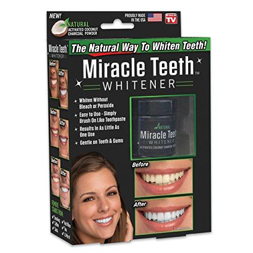 Ontel Ontel miracle dents blanchissant - poudre de charbon de bois de noix de coco blanchissant naturel - doux pour les dents et les gencives et élimine les taches causées par la fumée Rouge