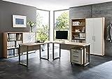 Büro Möbel Arbeitszimmer komplett Set OFFICE EDITION (Set 1) in Eiche Sonoma/Weiß - abschließbar und Metallgriffe - Made in Germany