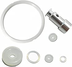 Silicone Sealing Ring and Pressure Cooker Gasket + Universal Replacement Floater and Sealer for 5 or 6 Quart Models -Set of 7