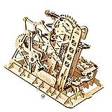 iBaste Rompecabezas 3D de madera de canicas modelo 3D Marble Run puzzle modelo kit de madera artesanía rompecabezas mecánico
