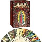 Cartas del Tarot, Oracle Cards, 78 Hojas de la Santa Muerte de Tarot, Cartas de Tarot y reservar para Principiantes Set, agotada RARA Regalos impresión Juego (con Guía Inglés)