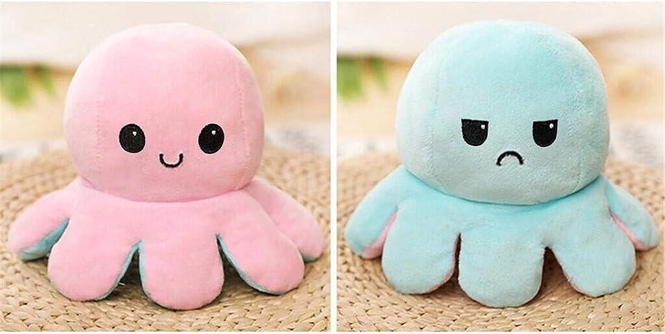 2021 Octopus plüschtier, Reversible Octopus Plush zum Wenden, Doppelseitige Flip Kuscheltier Octopus Kindergeschenk.Geschenke für Jungen und Mädchen
