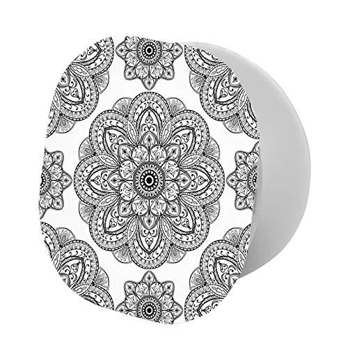 Soporte para teléfono, patrón adornado de mandala con formas simétricas y azulejos árabescos, imagen persa, soporte universal para todos los teléfonos