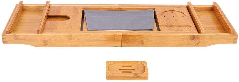 Bamboo Wood Luxury Quantity limited Bathtub Tray Expandable Phone S w Tablet Popular brand in the world Wine