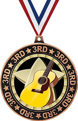 Guitar 3rd Place Limited Special Price Perimeter Finally resale start Medal 2.75